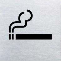 Ofform Edelstahlschild - Rauchen erlaubt