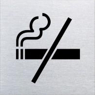 Ofform Edelstahlschild - Rauchen verboten