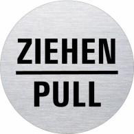 Ofform Edelstahlschild - Ziehen -- Pull