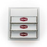 RENZ Tastenmodul mit 3 Klingeltaster