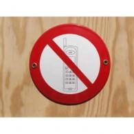 Münder-Email Schild - Handy verboten