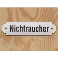 """Münder-Email Schild - """"Nichtraucher"""""""