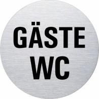 Ofform Edelstahlschild - Gäste WC
