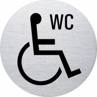 Ofform Edelstahlschild - WC Rollstuhl