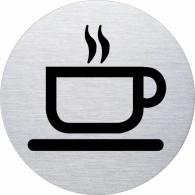 Ofform Edelstahlschild - Tasse Kaffee