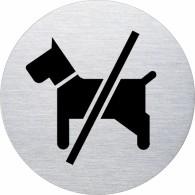 Ofform Edelstahlschild - Hundeverbot