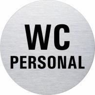 Ofform Edelstahlschild - WC Personal