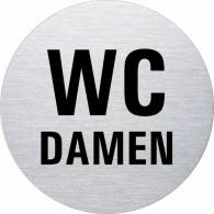 Ofform Edelstahlschild - WC Damen