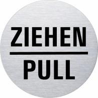 Ofform Edelstahlschild - Ziehen / Pull