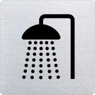 Ofform Edelstahlschild - Dusche