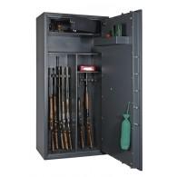 FORMAT Waffenschrank Cervo Multi-Set im geöffnetem Zustand in RAL 7024 (Graphitgrau)