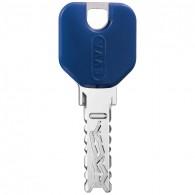 EVVA 4KS Schlüssel mit Designreide blau