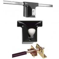 IKON - Stangenschloss für Garagentore - Schwenktorsicherung inkl. P0 knaufzylinder und Befestigungsmaterial