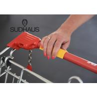 Sudhaus griffy in gelb - Anwendungsbeispiel Einkaufskorb
