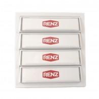 RENZ Tastenmodul mit 4 Klingeltaster