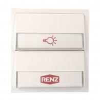 RENZ Tastenmodul mit 1 Lichttaster + 1 Klingeltaster