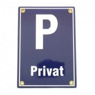 Münder-Email Schild - Parkplatz