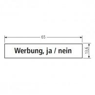 RENZ Kunststoff-Namenschildeinlage - für Namensschild 09