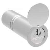 econ Rohrtresor klein mit Schutzklappe und Kernziehschutz