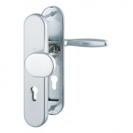HOPPE Verona Schutzbeschlag ohne Zylinder-Abdeckung SK2 - F1 Aluminium Natur - 72 mm