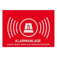 Warnschild Alarmanlage