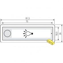 """RENZ RSA2 Kunststoff-Lichtschild - Symbol """"Glühbirne"""""""