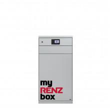 RENZ eQUBO Paketkasten mit 2 Paketfächern XS und XL in Verkehrsweiß