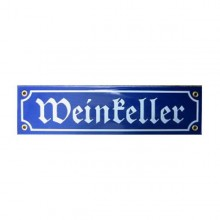 Münder-Email Schild - Weinkeller
