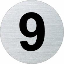 Ofform Edelstahlschild - Ziffer 9