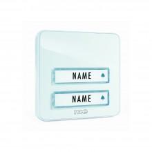 M-E Zusatzsender Klingeltaster weiß