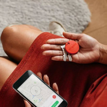 Chipolo Bluetooth Schlüsselfinder rot Anwendungsbeispiel