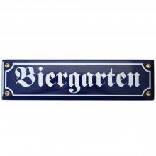 Münder-Email Schild - Biergarten