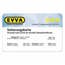 Beispiel einer Ersatz-Sicherungskarte WP