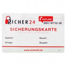 Ersatz-Sicherungskarte EP
