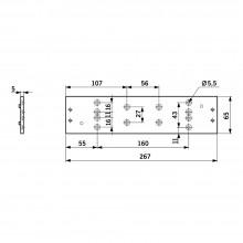 DORMA Montageplatte TS 91