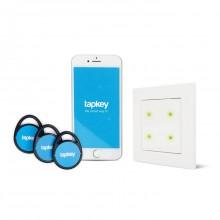 Tapkey Smart Reader weiße Blindabdeckung und iPhone Kombi