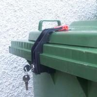 CTS Mülltonnenschloss - bis 360 Liter mit Griffmuldendeckel-verschiedenschließend