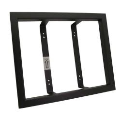 CREONE KeyBox Unterputzrahmen Edelstahl schwarz