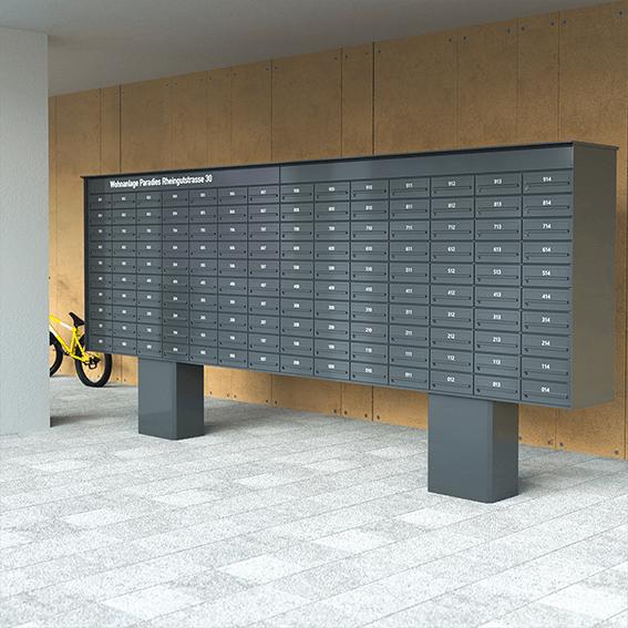 große freistehende Briefkastenanlage von JU