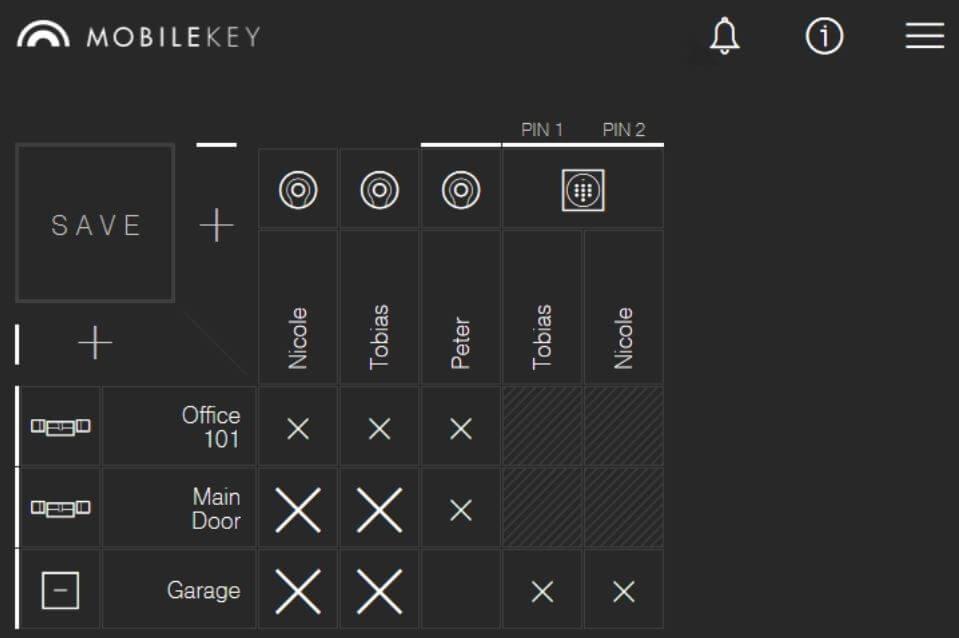 SimonsVoss Mobilekey Web-App