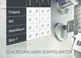 Schliessanlagen konfigurieren